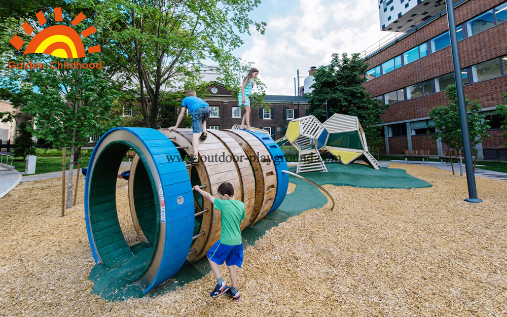 outdoor Playspace wooden structure
