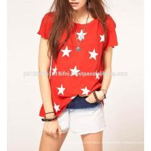 women stylish sexy stylish top with star print cotton made