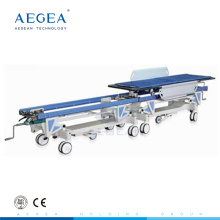 AG-HS004 with central locking system hospital manual patient transport mobile stretcher