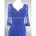 Royal V Neck Chiffon Evening Dress