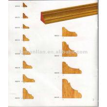 Угловой дизайн инженерных молдингов из тикового дерева для украшения