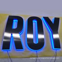 Stainless Steel Back Halo Letters Diy Led Outdoor Backlit 3D Channel Letter Lights Sign