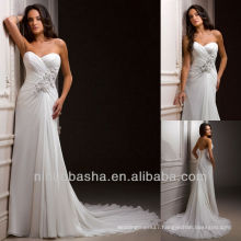 Sheath Court Train Lace Up Back Sweetheart Handmade Flowers Sequin Wedding Dresses Bridal Gowns