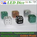 MCU control colorful LED CNC aluminium alloy dice