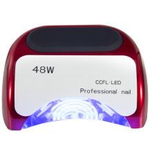 Lámpara de fototerapia de diapositivas de 48 vatios / uñas profesionales CCFL + LED