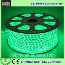Haute tension CE RoHS 120LED chaud vert couleur ruban LED lumineuse