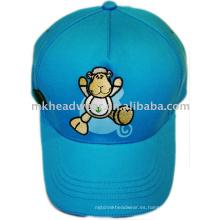Gorra de béisbol para niños con bordado