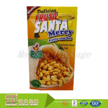 Custom Own Brand Design Print Plastic Snack Packaging Nut Stand Up Pouch With Ziplock