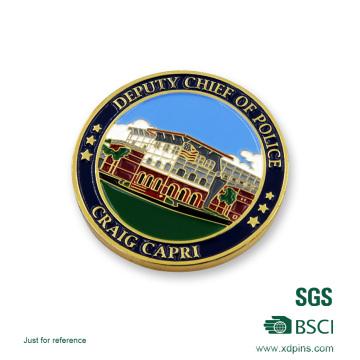 Moneda de Desafío de Policía Soft Enamel personalizada