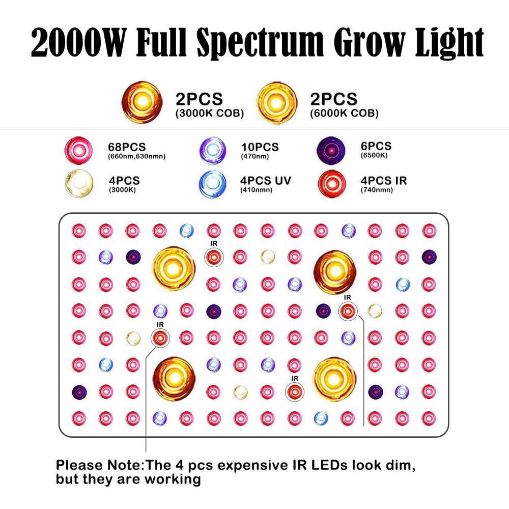 2000w Cob Led Grow Lights