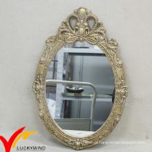 Delicate estilo francês espelho decorativo decoração de parede de madeira