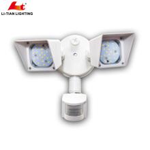 NOUVELLE double lumière de sécurité extérieure LED étanche IP65 a mené la lumière de sécurité avec détecteur de mouvement