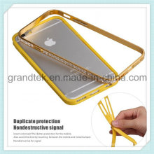 Capa de telefone inteligente de metal de diamante para iPhone6 Mobile Case