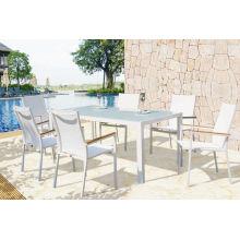 Muebles modernos al aire libre moderno Sling patio comedor conjunto para el restaurante del patio trasero del hotel (D560; S262)