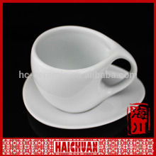 HCC clear cup saucer, disposable tea cup and saucer