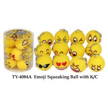 Emoji Squeaking Ball avec K / C Toy