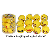 Emoji Squeaking Ball with K/C Toy