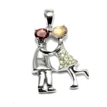 Fashion Boy Girl Gemstone Pendant Jewelry Accessory Charms