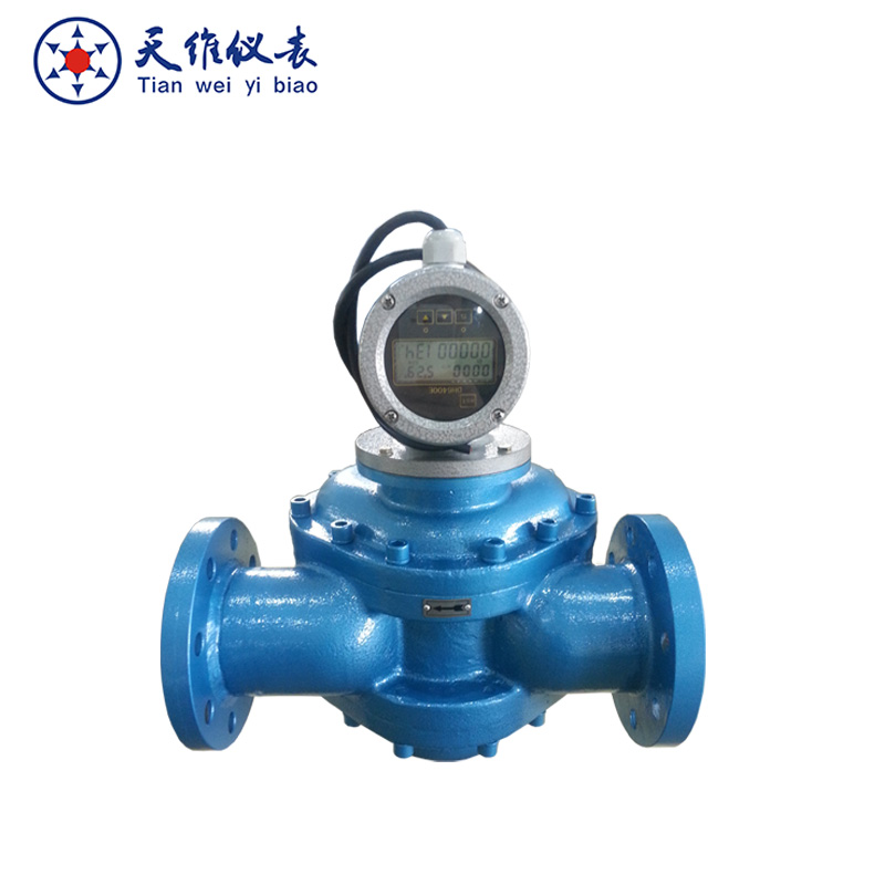 digital lubricating oil PD flow meter
