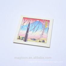 2016 well looking pencil painting scenery design tin plate fridge magnets wholesaler
