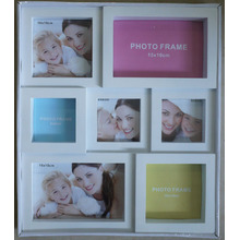 White Plastic Collage Frame