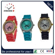Montre en silicone unisexe montre-bracelet en silicone de boîtier en plastique 2016 (DC-187)