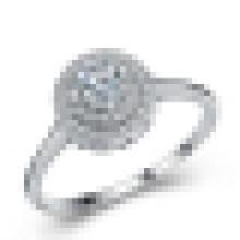 Mulheres 925 Sterling Silver Ring Minimalista Presente de Aniversário de Casamento Estética Minimalista