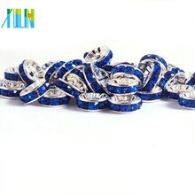 BB069 Loose Rhinestone Crystal Rondelle Spacer Beads