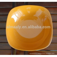 high quality porcelain square plate for hotel