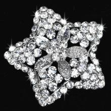 fashion wedding crystal flower star shape rhinestone brooch pins for embellishment decoration