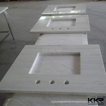 Prefab Cut-to-size 42x19 Commercial Countertop Modern Bath Toilet Molded Hotel Acrylic Resin Quartz Marble Vanity Top