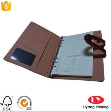 Leder Customized Office Notebook mit Tasche
