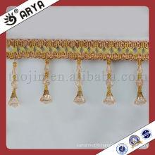Plastic Beaded String Fringe for room detailed decoration