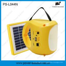 Lâmpada Solar LED recarregável com carregador de celular USB