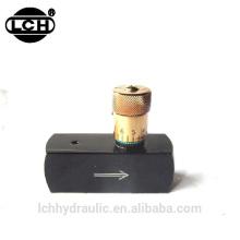 Válvula de sentido único hidráulico ajustável do throttle de sentido único