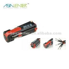 8 в 1 Multi Screwdriver фонарик с 4 Светодиодные огни