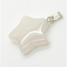 Star Shape Rose Quartz pendant