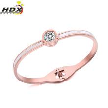Pulseira de diamante de moda jóias de aço inoxidável