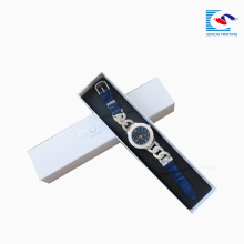 caja de papel del rectángulo de la muñeca del reloj de la cartulina de la fábrica de China de Sencai