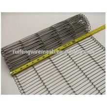 Edelstahl-Flachdraht-Gurt- / Metalldraht-Gurtförderer / Ss-Stahlförderband-Masche
