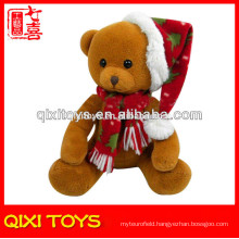 Wholesale small stuffed bear toy christmas bear plush toy