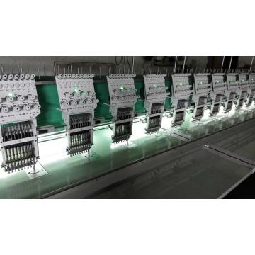 Máquina plana del bordado con calidad satisfactoria para tela/paño/cuero