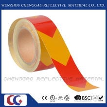 Pet Material Self-Adhesive Reflective Caution Floor Marking Tape (C1300-AW)