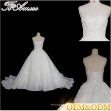 Tiamero blanc halter sans bretelles en bandoulière en bandoulière robe de mariée en mousseline de soie