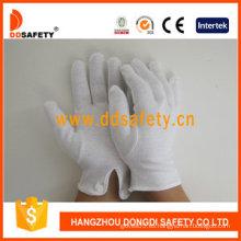 100% Bleach Algodón / Interlock Guantes de trabajo con CE (DCH109)