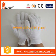 100% Lixívia Algodão / Interlock Trabalho Luvas com CE (DCH109)