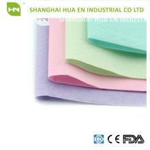 Papier coloré 1ply 1ply Couvercle d'appui-tête dentaire en papier poly transparent