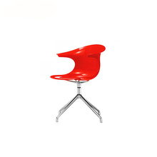 Infiniti Design apoyabrazos de aluminio Loop Swivel Chair