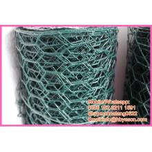 """1/2 """"* 1/2"""" recubrimiento de vinilo galvanizado hexagonal de alambre de alambre de malla de redes de jaulas de animales"""