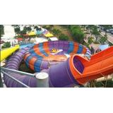 Large red family raft Space Bowl Water Slide for 4 persons